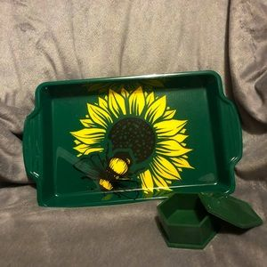 Handcrafted Tray and Container